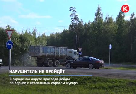 В Красногорске продолжается круглосуточная борьба с незаконным сбросом мусора.
