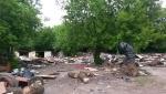 Огромная свалка промышленного, бытового и строительного мусора недалеко от станции Павшино в Красногорске.